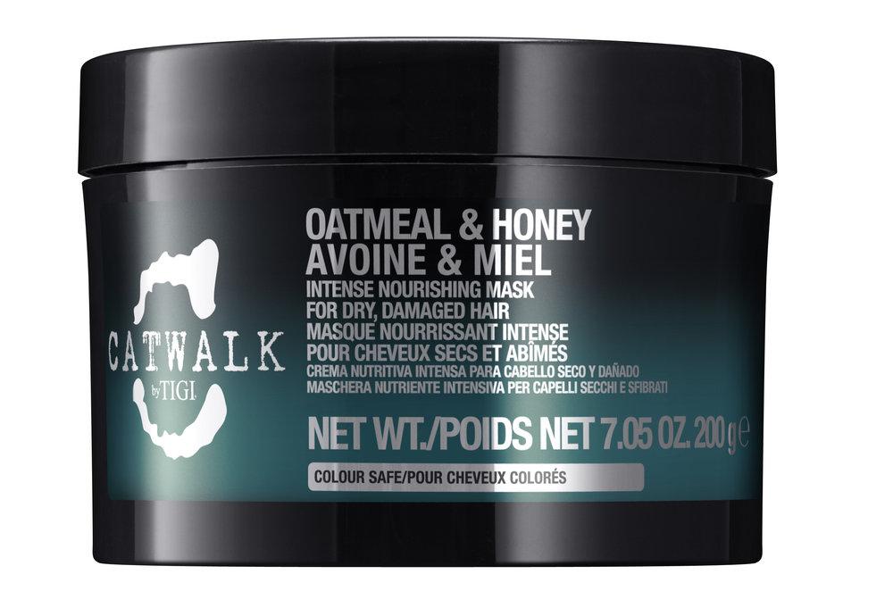 TIGI Маска интенсивная для питания сухих и ломких волос / CATWALK Oatmeal & Honey 200 мл -  Маски