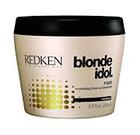 REDKEN Маска для питания и смягчения волос оттенка блонд / BLONDE IDOL 250млМаски<br>Крем-маска глубоко питает, увлажняет и восстанавливает волосы. Средство проникает вглубь волоса и наполняет его жизненной энергией. Благодаря маслу авокадо, которые входит в состав маски от Редкен, ваши волосы становятся гладкими и эластичными. После применения маски от Redken волосы становятся блестящими, красивыми и гладкими. Активные ингредиенты: Gold camelina, масло авокадо, оливковое масло, аминокислоты шелка. Способ применения: Нанесите небольшое количество маски от Редкен на подсушенные полотенцем волосы и оставьте на 5-15 минут, а затем тщательно смойте. Чем суше волосы, тем дольше необходимо держать маску на коже головы.<br><br>Тип: Крем-маска<br>Цвет: Блонд<br>Типы волос: Окрашенные