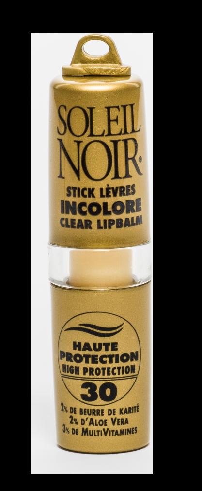 """SOLEIL NOIR Бальзам для губ бесцветный """"Высокая степень защиты"""" SPF30 / STICK LEVRES 4гр"""