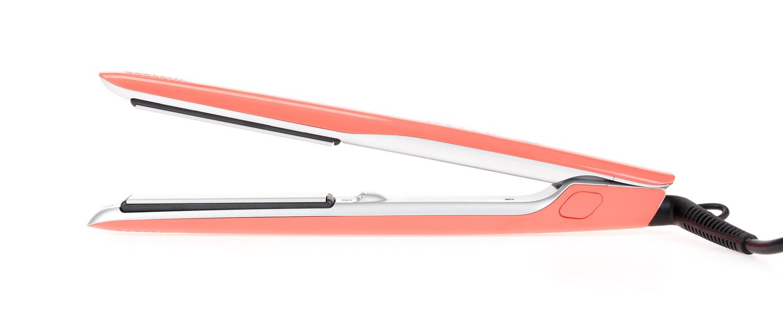 Купить DEWAL PROFESSIONAL Щипцы для выпрямления волос Coral оранжевые, с терморегулятором, титаново-турмалиновое покрытие, 23 х 87 мм, 40 Вт