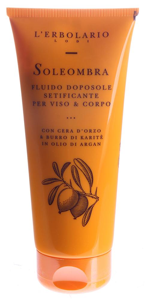 LERBOLARIO Жидкое увлажняющее средство после загара для лица и тела с ячменным воском и маслом ши в масле арган
