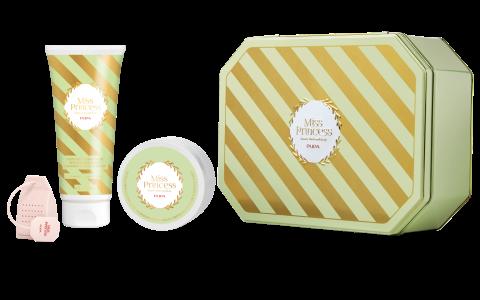 PUPA Набор для тела Жасмин / MISS PRINCESS MEDIUM KIT 200 мл + 100 мл + ситечко для чая - Наборы