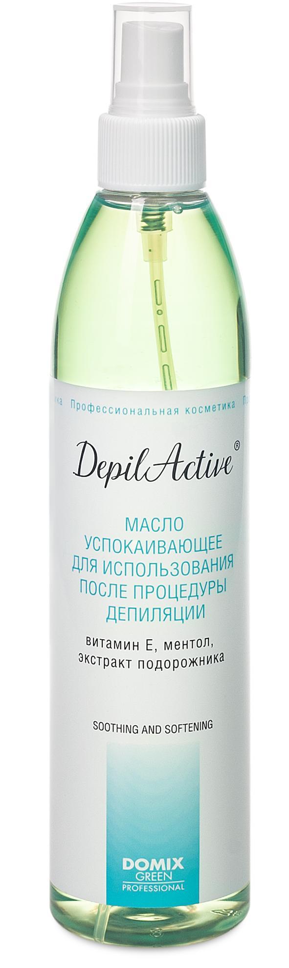 DOMIX Масло успокаивающее для использования после процедуры депиляции / Depil Active 320 мл
