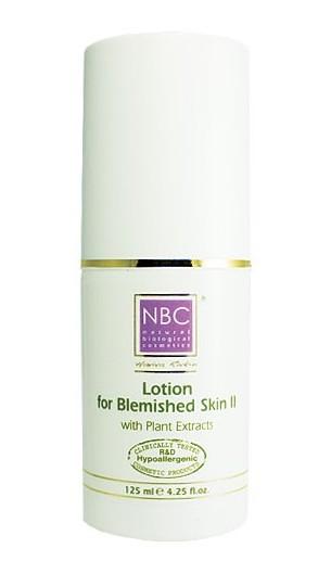 NBC Haviva Rivkin Лосьон для проблемной кожи / Lotion For Blemished Skin II 125млЛосьоны<br>Лосьон для лечения пигментных пятен, возникших в результате воздействия солнечных лучей, беременности, гормонального лечения, застойных пятен (постакне). Активные ингредиенты: экстракт бензоина, глицерин, экстракт тимьяна, экстракт мяты перечной. Способ применения: намочить лосьоном ватный тампон и протирать лицо.<br>