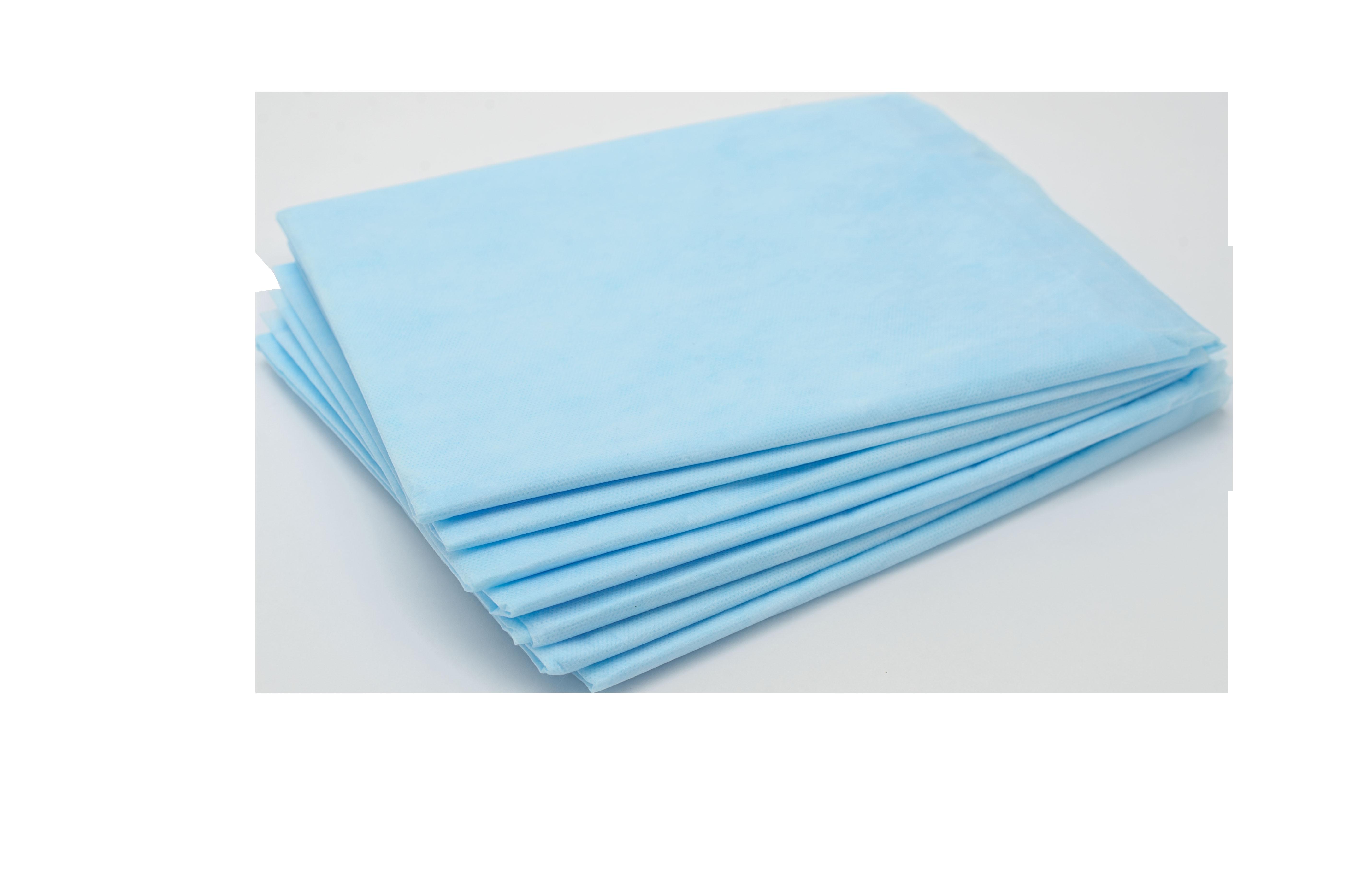 ЧИСТОВЬЕ Простыня SMS 200*80 см голубая Комфорт 20 шт/уп