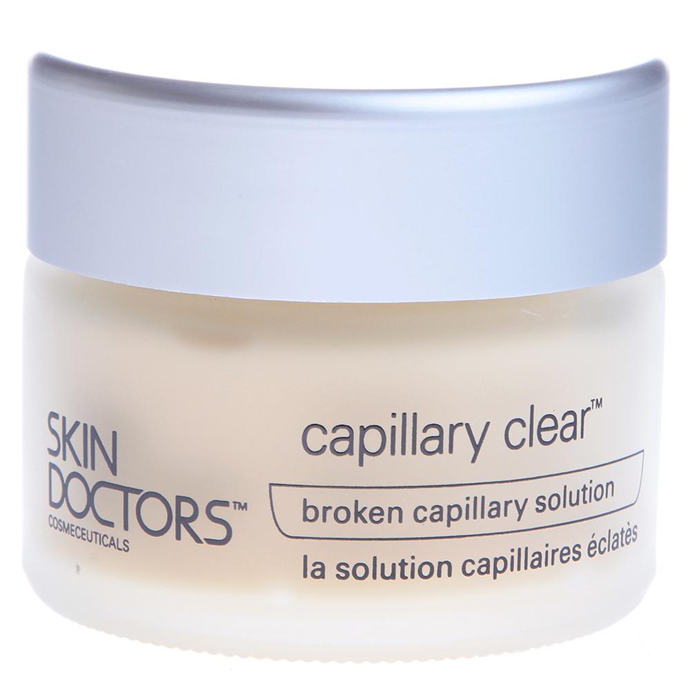 SKIN DOCTORS Крем для кожи лица с проявлениями купероза / Capillary Clear 50млКремы<br>Поврежденные капилляры, особенно на лице - серьезный косметический дефект. Кроме того, не смотря на относительную безобидность и безболезненность, они на самом деле свидетельствуют о наличии в организме внутренних проблем, возникших в результате вредного воздействия солнца, старения или чрезмерного пристрастия к алкоголю. С этими проблемами сталкиваются как женщины, так и мужчины. И хотя женщины могут скрывать их при помощи макияжа, Skin Doctors Capillary Clear обеспечивает безопасное, мягкое и эффективное решение для лиц обоих полов. Созданный на основе разглаживающих кожу составов, разработанных ведущими пластическими и косметическими хирургами во Франции и США, Capillary Clear обладает большими возможностями для решения целого ряда косметико-дерматологических проблем &amp;ndash; не только поврежденных капилляров, но и старческой красной сыпи, рожистых воспалений, последствий ожогов, в том числе химических, а также послеоперационных рубцов. Phytonadione (Рhуtоmеnаdionum) / Витамин К1   природным источником фитоменадиона, известного также как филлохинон (Phylloquinone) или витамин K1, являются зеленые листовые овощи. Витамин K играет важную роль в синтезе по меньшей мере шести из 13 протеинов, необходимых для свертывания крови, поэтому его называют &amp;ldquo;витамином свертывания крови&amp;rdquo;. Фитоменадион способствует исчезновению видимых признаков повреждения капилляров, поддерживая их здоровое состояние. Bearberry (Толокнянка)   безопасная природная форма гидрохинона (Hydroquinone), мощного осветлителя кожи, который мягко устраняет неоднородную пигментацию.  Активные ингредиенты: Витамин К1, толокнянка, витамин А, арника, биофлавоноиды, календула, аллантоин, экстракт сои, салициловая кислота, масло плодов шиповника, Алоэ Вера Барбаденсис.  Способ применения: Пользуйтесь кремом ежедневно, утром и вечером. Перед процедурой тщательно умойтесь теплой водой, чтобы открыть поры