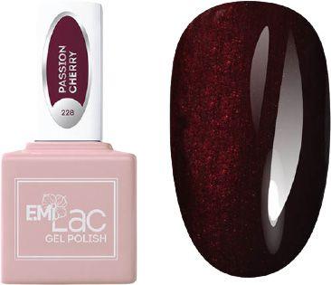 E.MI 228 RM гель-лак для ногтей, Страстная вишня / E.MiLac 6 мл