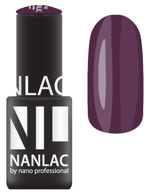 NANO PROFESSIONAL 2151 гель-лак для ногтей, сливовый виссон / NANLAC 6 мл