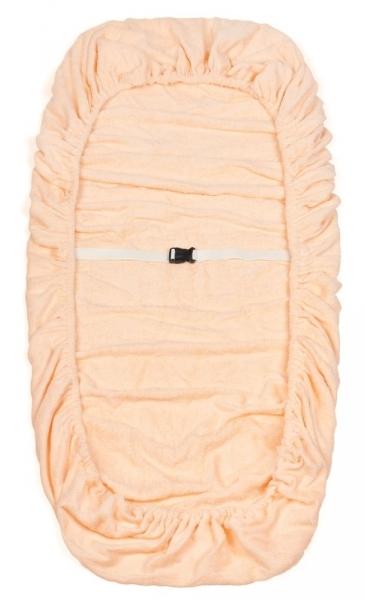 IGRObeauty Чехол махровый на кушетку, персик 90*215 см