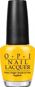 OPI Лак для ногтей Good Grief / Nail Lacquer 15млЛаки<br>Good Grief!   солнечный желтый посвящен любимой футболке Charlie Brown.<br><br>Цвет: Желтые<br>Виды лака: Глянцевые