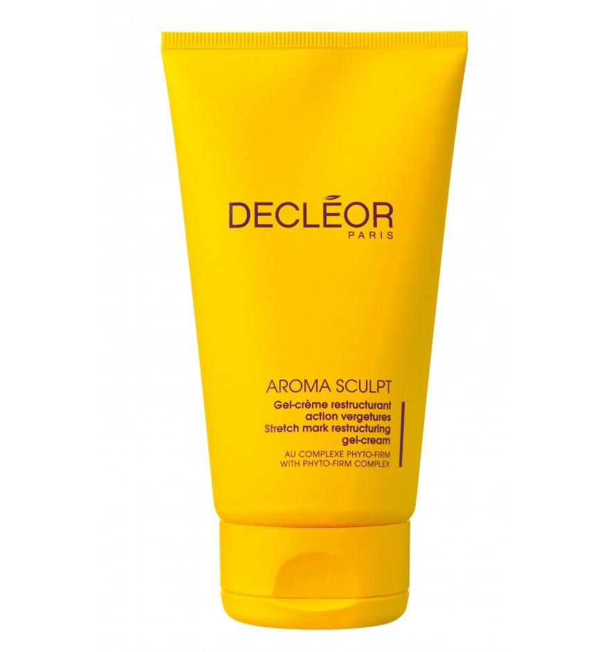 DECLEOR Гель-крем укрепляющий для тела от растяжек / AROMA SCULPT 150млГели<br>Гель-крем, обладающий укрепляющими, восстанавливающими и регенерирующими свойствами. Укрепляет структуру коллагеновых и эластиновых волокон, предупреждает образование растяжек, уменьшает уже имеющиеся. Повышает эластичность и тонус кожи, обладает подтягивающим действием, разглаживает и увлажняет кожу. Особенно рекомендуется применять во время и после беременности (начиная со 2 триместра). Рекомендуется в подростковом возрасте, а также в период изменения веса. РЕЗУЛЬТАТ: упругость и эластичность кожи восстановлены, растяжки уменьшены и менее заметны. Кожа обновленная, мягкая и подтянутая. Способ применения: рекомендуется использовать ежедневно утром и вечером. Нанесите на проблемные зоны после Сыворотки для упругости кожи тела Арома Скульпт.<br><br>Объем: 150 мл<br>Назначение: Растяжки