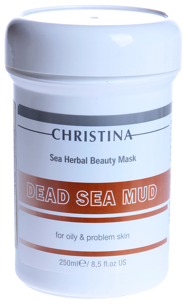 CHRISTINA Маска грязевая для жирной кожи / Sea Herbal Beauty Dead Sea Mud Mask 250млМаски<br>Действие: Маска с высоким содержанием грязи Мертвого Моря проводит глубокое очищение, отшелушивание, стимуляцию и тонизирование кожи. Закрывает расширенные поры, убирает излишки жира, снимает напряжение в лицевых мышцах. Регулирует функции сальных желез (коллоидная сера, оксид цинка), способствует нормализации процессов регенерации эпидермиса. Грязь Мертвого Моря уже тысячелетия широко известна своим уникальным действием в лечении себореи и псориаза, а минералы, содержащиеся в водах Мертвого Моря, превращают эту маску в очень эффективное средство при разных проблемах кожи. Состав: Вода Мертвого Моря, цетеариловый спирт, полисорбат 80, каолин, соли и минералы черной грязи Мертвого Моря, оксид цинка, магния карбонат, коллоидная сера. Применение: Маска наносится на очищенную кожу толстым слоем до линии шеи. Чтобы маска не высыхала, лицо покрывают мягкой мокрой тканевой салфеткой. Держат маску 10 - 15 минут. В результате влияния минералов может ощущаться лёгкое пощипывание и допустимо небольшое покраснение кожи. Маску смывают тёплой водой. В заключение процедуры наносят увлажняющее или питательное средство.<br><br>Объем: 250<br>Вид средства для лица: Грязевая<br>Типы кожи: Жирная