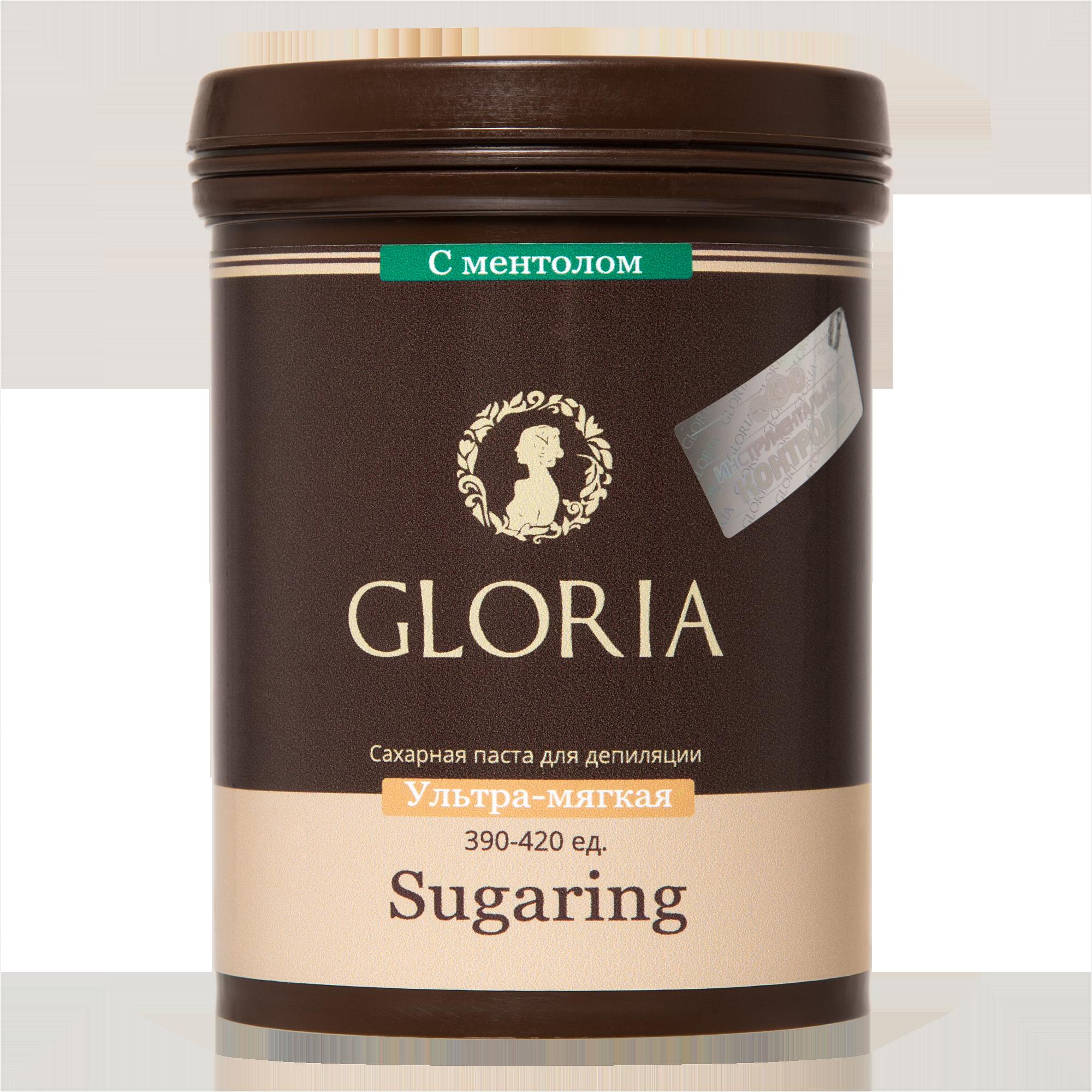 GLORIA Паста сахарная для депиляции ультра-мягкая с ментолом / GLORIA, 1,8 кгСахарные пасты<br>Паста предназначена для работы мануальной и шпательной техникой на любых участках, включая такие чувствительные, как лицо и зона бикини. Натуральный ментол, входящий в состав пасты, снижает неприятные ощущения во время процедуры и дарит коже приятную прохладу. Паста GLORIA одна из самых экономичных паст для шугаринга, представленных сегодня на российском рынке. Внимание! Возможна кристаллизация ментола (не отражается на потребительских качествах сахарной пасты). Кол-во процедур: 60 Активные ингредиенты: глюкоза, фруктоза, лимонная кислота, вода, ментол.<br>