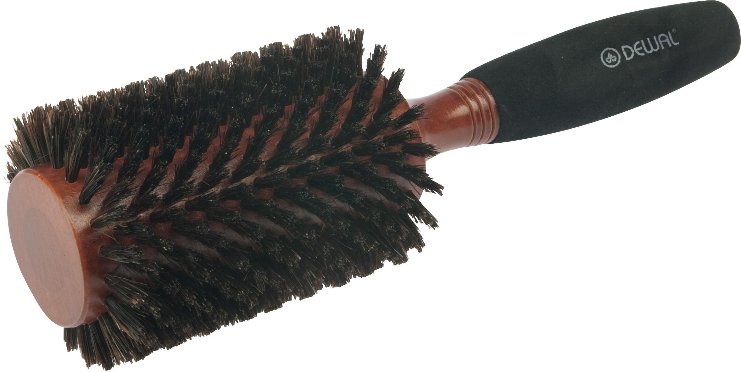 Купить DEWAL PROFESSIONAL Брашинг деревянный, натуральная щетина, мягкая ручка d 42/70 мм