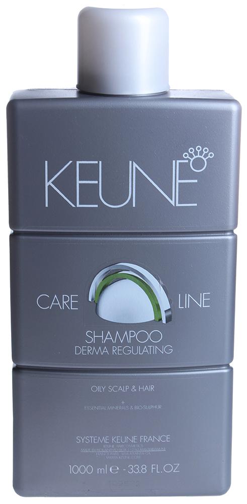 KEUNE Шампунь себо-регулирующий Кэе Лайн / CL REGULATING SHAMPOO 1000млШампуни<br>Этот шампунь обладает мягким очищающим действием и предотвращает раздражение сальных желез. Кроме того, шампунь оказывает смягчающее действие на кожу головы. Задерживает распространение жира по волосам и коже головы. Придает волосам объем и задерживает повторное появление жира. Предназначен для жирных волос и жирной кожи головы. Активный состав: Биомины: Оживляют волосы и кожу головы. Экстракт альпийских трав: Оказывает успокаивающее действие на кожу головы. Протеин конденсата абиетиновой кислоты: Задерживает распространение жира по волосам и коже головы. Биосера: Регулирует саловыделение. Применение: Необходимое количество шампуня нанести на мокрые волосы. Тщательно сполоснуть. Еще раз нанести шампунь на волосы и массировать волосы и кожу головы. Тщательно сполоснуть. Не используйте очень горячую воду и не массируйте кожу головы слишком интенсивно, так как раздражение кожи головы стимулирует работу сальных желез. Не рекомендуется использовать фен.<br><br>Объем: 1000<br>Тип кожи головы: Жирная<br>Типы волос: Жирные