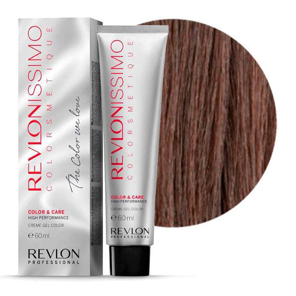 REVLON Professional 5.24 краска для волос, светло-коричневый переливающийся медный / RP REVLONISSIMO COLORSMETIQUE 60 мл