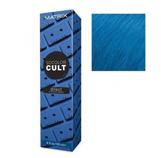 Купить MATRIX Крем-краситель с пигментами прямого действия для волос, ретро синий / SOCOLOR CULT 118 мл