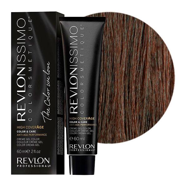 Купить REVLON Professional 5-41 краска для волос, насыщенный светлый орех / RP REVLONISSIMO COLORSMETIQUE High Coverage 60 мл