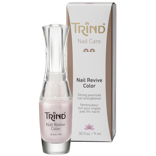 TRIND Укрепитель для ногтей розовый перламутр, без формальдегида / Nail Revive Pink Pearl 9 мл