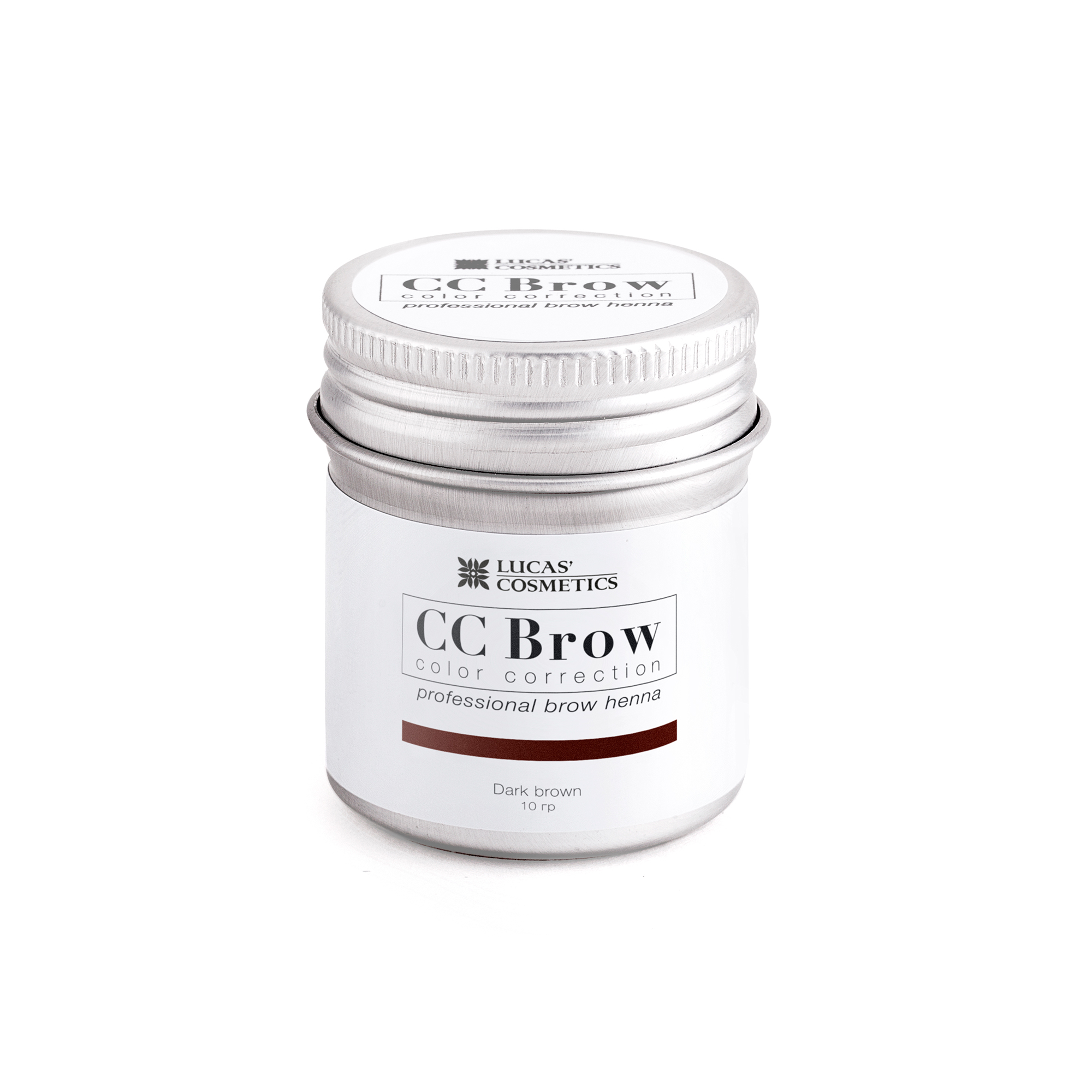 LUCAS' COSMETICS Хна для бровей, темно-коричневый (в баночке) / CC Brow dark brown 10 г - Хна для бровей