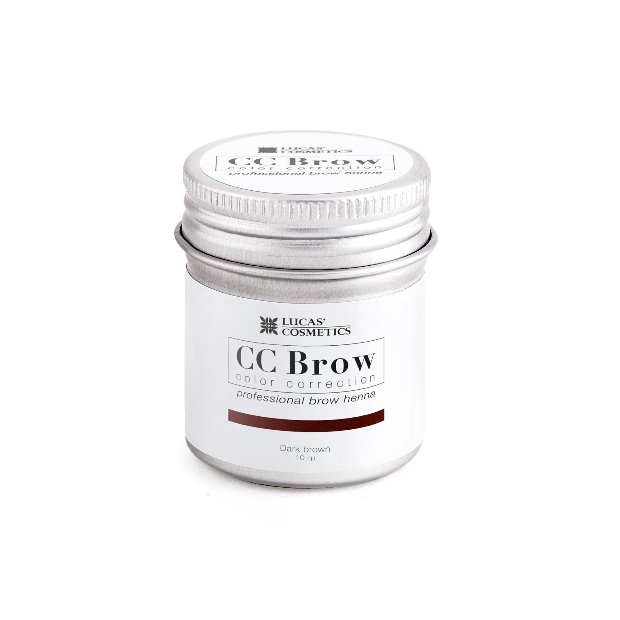 LUCAS' COSMETICS Хна для бровей в баночке (темно-коричневый) / CC Brow (dark brown), 10 гр