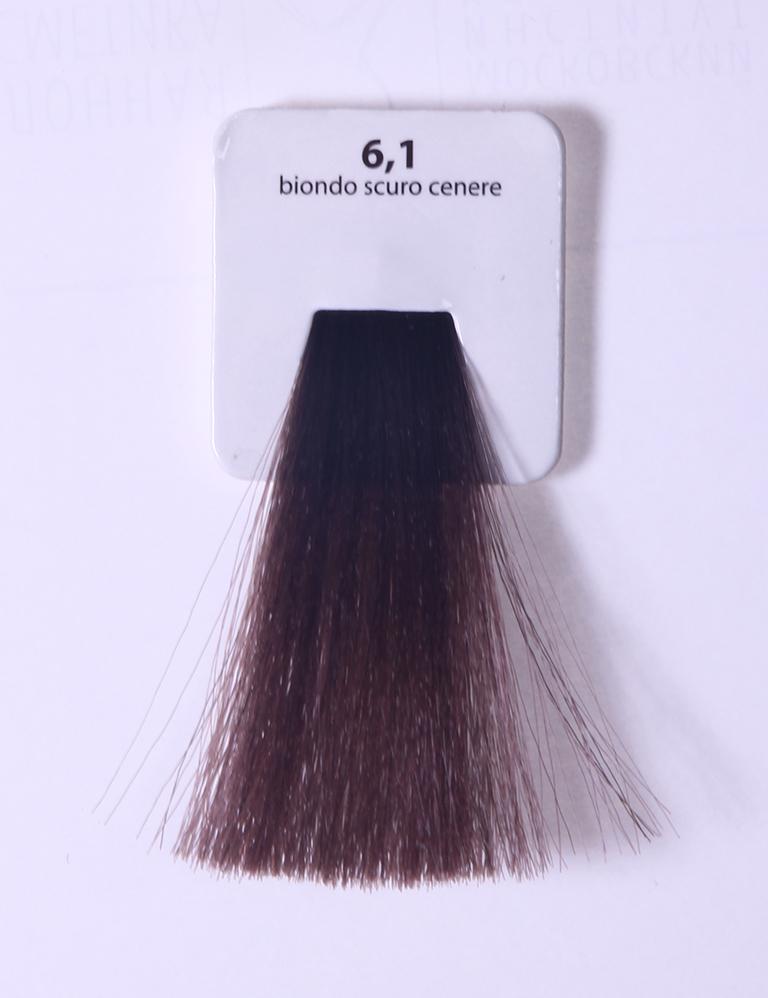 KAARAL 6.1 краска для волос / Sense COLOURS 100млКраски<br>6.1 темно-пепельный блондин Перманентные красители. Классический перманентный краситель бизнес класса. Обладает высокой покрывающей способностью. Содержит алоэ вера, оказывающее мощное увлажняющее действие, кокосовое масло для дополнительной защиты волос и кожи головы от агрессивного воздействия химических агентов красителя и провитамин В5 для поддержания внутренней структуры волоса. При соблюдении правильной технологии окрашивания гарантировано 100% окрашивание седых волос. Палитра включает 93 классических оттенка. Способ применения: Приготовление: смешивается с окислителем OXI Plus 6, 10, 20, 30 или 40 Vol в пропорции 1:1 (60 г красителя + 60 г окислителя). Суперосветляющие оттенки смешиваются с окислителями OXI Plus 40 Vol в пропорции 1:2. Для тонирования волос краситель используется с окислителем OXI Plus 6Vol в различных пропорциях в зависимости от желаемого результата. Нанесение: провести тест на чувствительность. Для предотвращения окрашивания кожи при работе с темными оттенками перед нанесением красителя обработать краевую линию роста волос защитным кремом Вaco. ПЕРВИЧНОЕ ОКРАШИВАНИЕ Нанести краситель сначала по длине волос и на кончики, отступив 1-2 см от прикорневой части волос, затем нанести состав на прикорневую часть. ВТОРИЧНОЕ ОКРАШИВАНИЕ Нанести состав сначала на прикорневую часть волос. Затем для обновления цвета ранее окрашенных волос нанести безаммиачный краситель Easy Soft. Время выдержки: 35 минут. Корректоры Sense. Используются для коррекции цвета, усиления яркости оттенков, создания новых цветовых нюансов, а также для нейтрализации нежелательных оттенков по законам хроматического круга. Содержат аммиак и могут использоваться самостоятельно. Оттенки: T-AG - серебристо-серый, T-M - фиолетовый, T-B - синий, T-RO - красный, T-D - золотистый, 0.00 - нейтральный. Способ применения: для усиления или коррекции цвета волос от 2 до 6 уровней цвета корректоры добавляются в краситель по Правилу пят