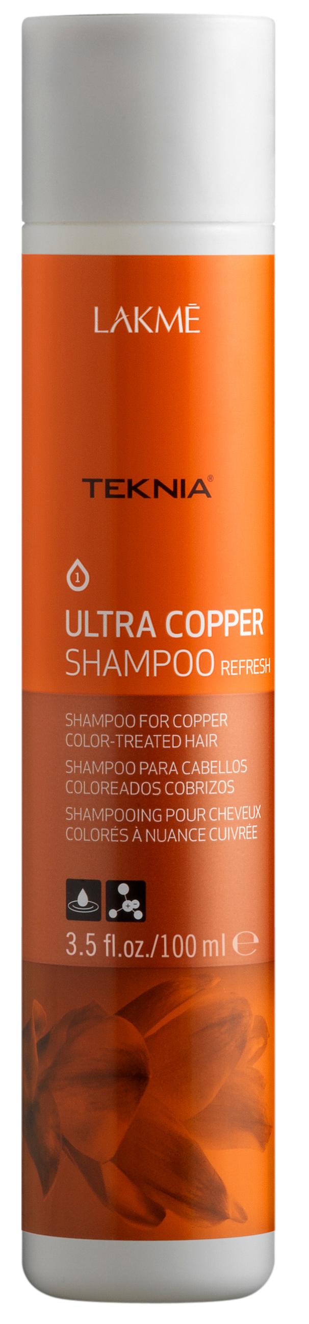 Lakme шампунь для поддержания оттенка окрашенных волос, медный / ultra copper shampoo 100 мл