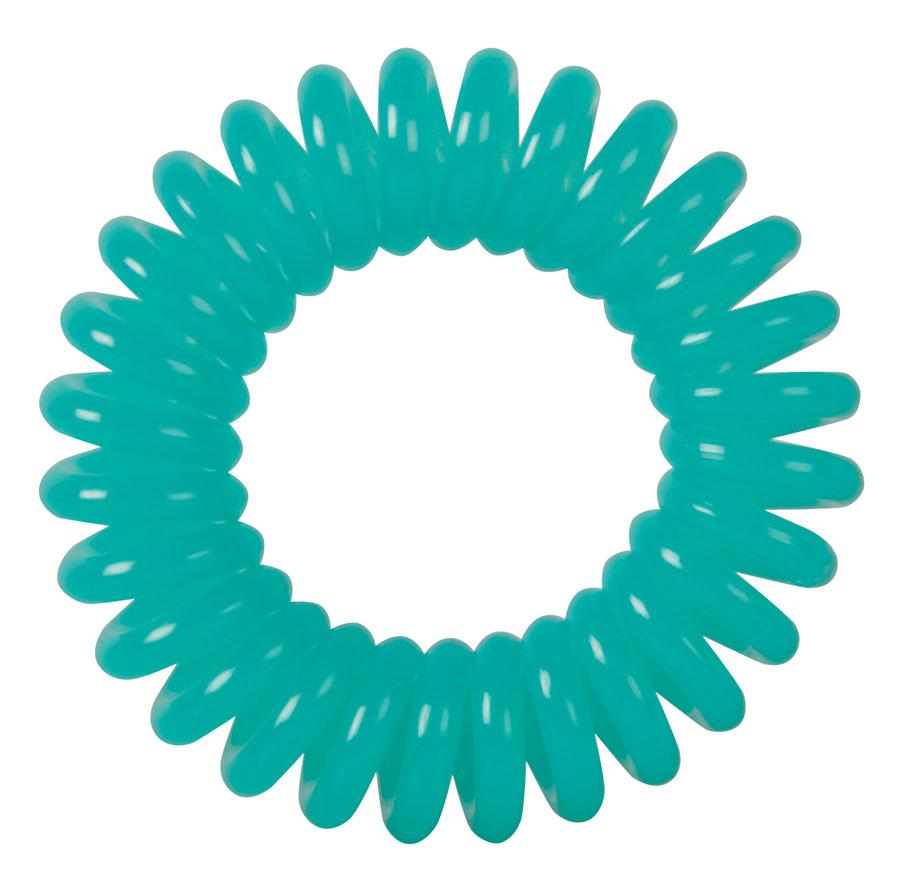DEWAL BEAUTY Резинки для волос Пружинка, цвет светло-зеленый 3 шт