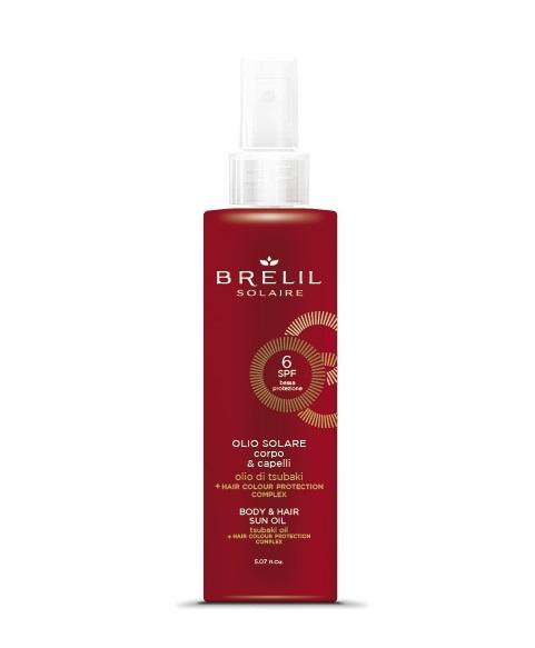 Купить BRELIL professional Масло защитное для волос и тела SPF 6 / SOLAIRE 150 мл