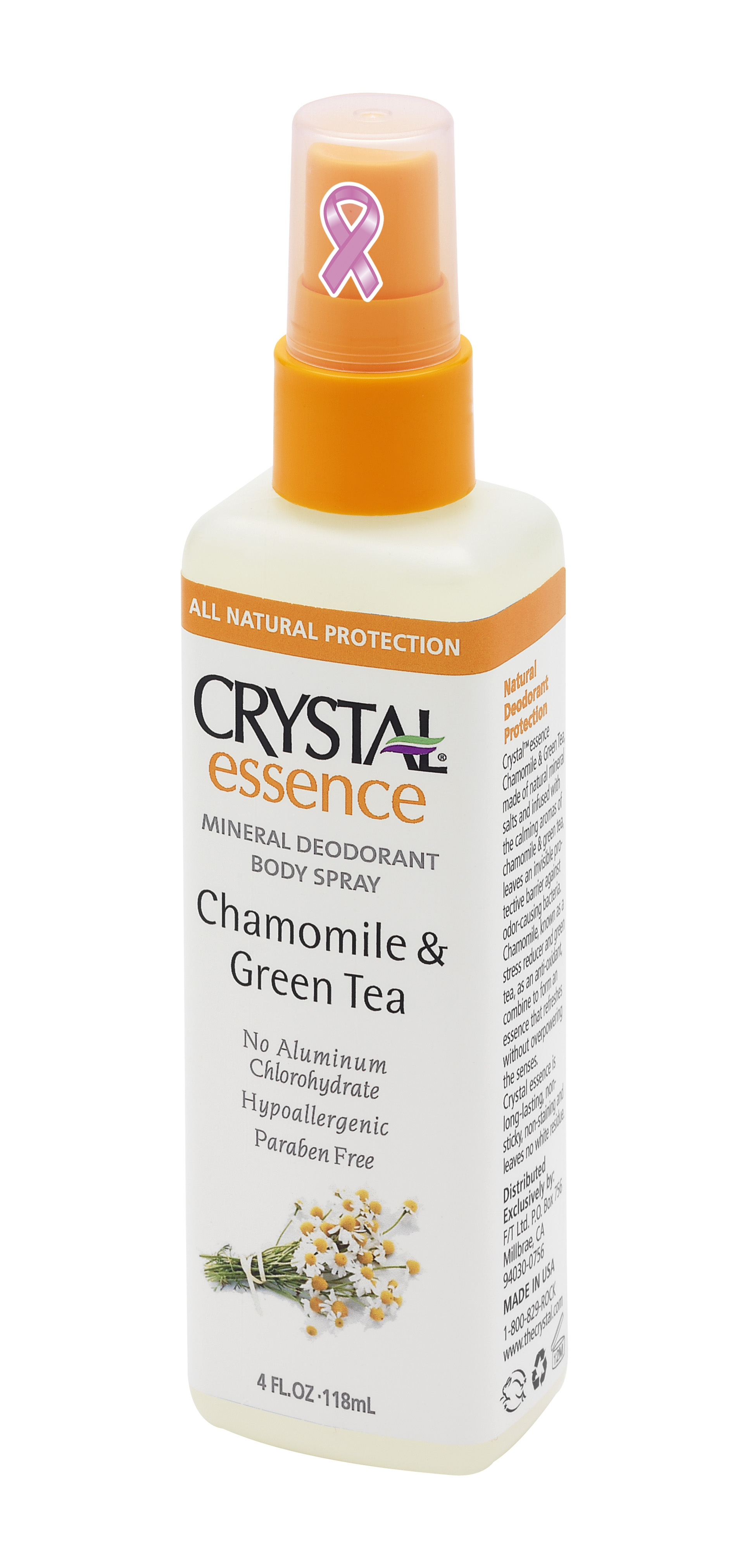 CRYSTAL Дезoдорант-спрей, ромашка и зеленый чай / Crystal Sprey Chamomile & GreenTea 118 мл