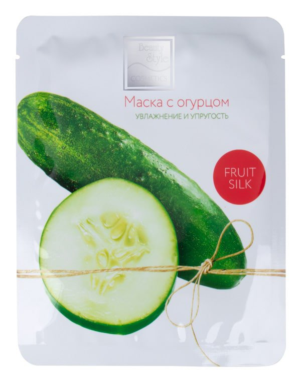 BEAUTY STYLE Маска тканевая с огурцом Увлажнение и упругость / Fruit Silk 7 х 30 мл  - Купить
