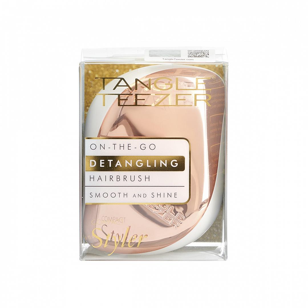TANGLE TEEZER Расческа для волос / Compact Styler Rose Gold Luxe.