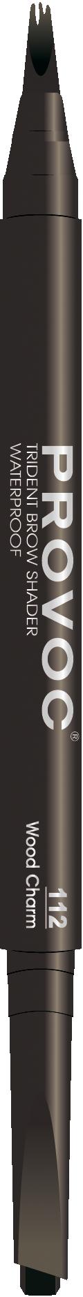 PROVOC Подводка двусторонняя гелевая для бровей, 112 коричневая / (L) Trident Brow Shaper 7 г