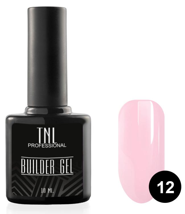 TNL PROFESSIONAL Гель моделирующий камуфлирующий для ногтей, 12 бледно-розовый / Builder Gel 10 мл