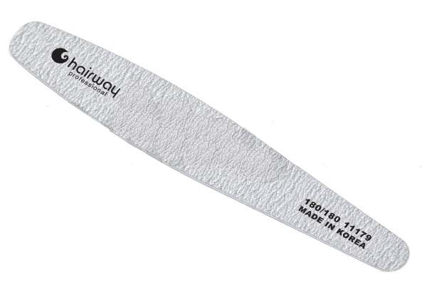 HAIRWAY Пилка contour зебра 180/180Пилки для ногтей<br>Пилка Hairway contour предназначена для обработки искусственных ногтей, опиливания у области кутикулы, а также применяется при подготовке натуральной ногтевой пластины перед моделированием искусственных ногтей и для придания формы свободному краю натурального ногтя.<br>