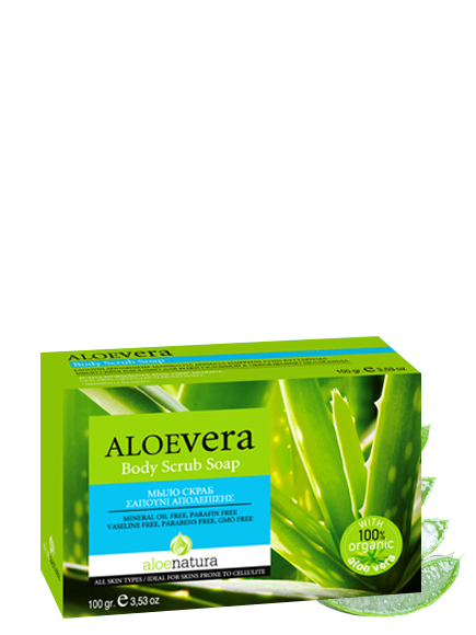 MADIS Мыло-скраб натуральное с экстрактом алоэ-вера / AloeNatura 100 гр