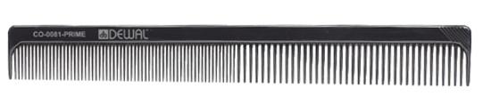 DEWAL PROFESSIONAL Расческа рабочая Prime комбинированная (черная) 18 см