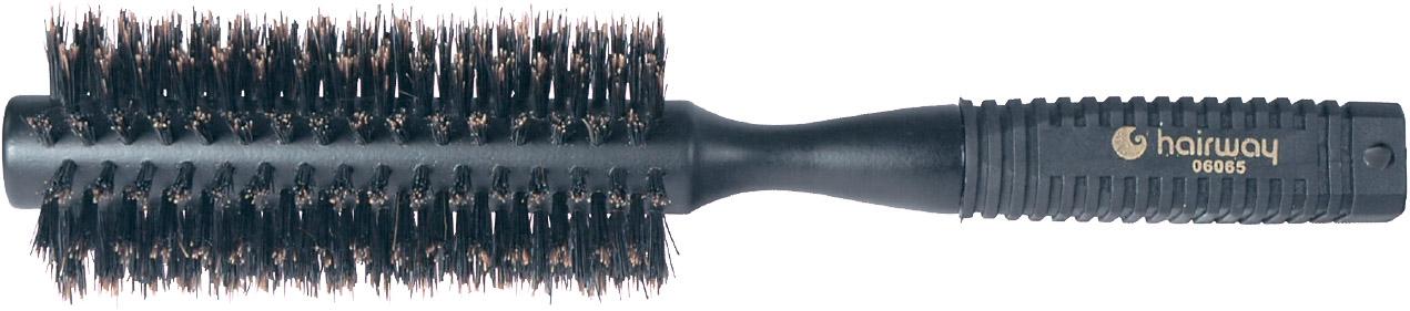 HAIRWAY Брашинг Basel деревянный, натуральная щетина 18 мм брашинг для волос hairway ion ceramic 07119