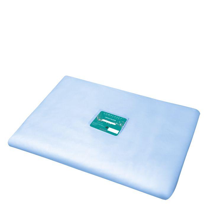 DOMIX Простыня в сложении SMS 20 80*200 см голубая Комфорт 20 шт/уп
