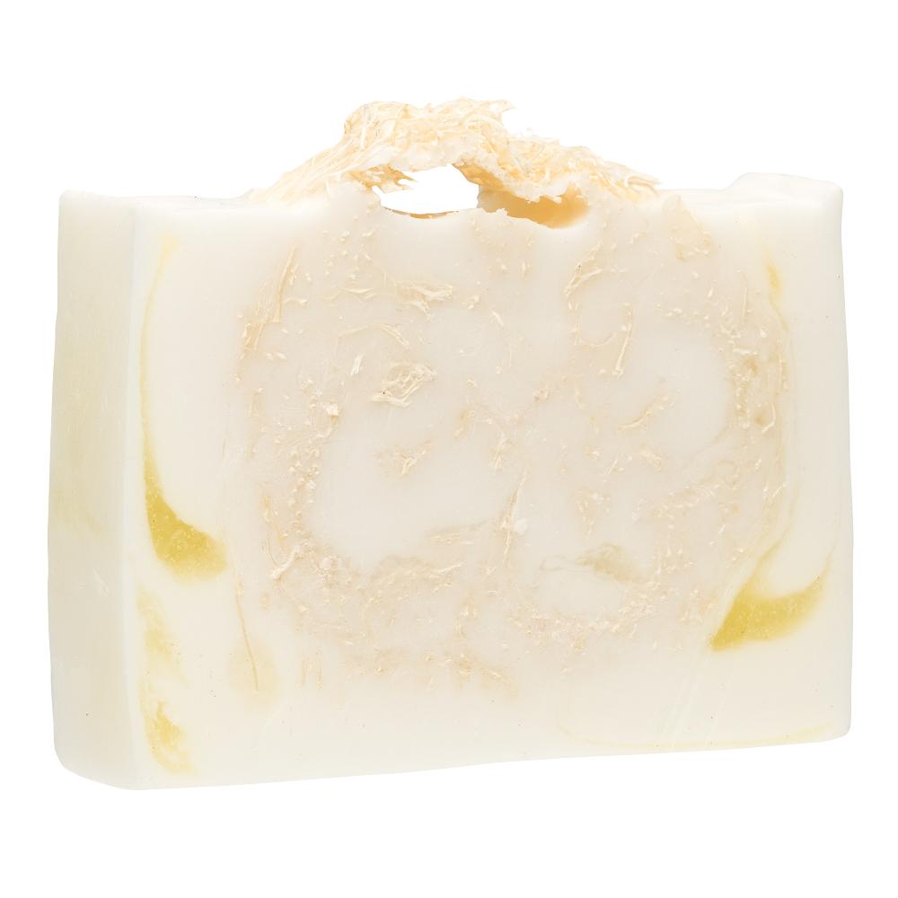 GLORIA Мыло с люфой Карибский коктейль Смягчение и увлажнение / GLORIA HOME SPA 100 грМыла<br>Оригинальное мыло ручной работы, созданное на основе натуральных ингредиентов, содержит экстракты манго, алоэ, витамин Е и козье молоко. Входящая в состав мыла люфа - природный растительный материал и превосходное натуральное средство механического пилинга. Такое мыло бережно очищает кожу, мягко отшелушивает и деликатно удаляет ороговевшие клеточки. Нежный массирующий эффект улучшает микроциркуляцию крови и способствует предотвращению внешних проявлений целлюлита в проблемных зонах. Активные натуральные компоненты мыла с люфой «Карибский коктейль» помогут обеспечить вашей коже дополнительное смягчение и увлажнение, подарить ей нежность и бархатистость. Активные ингредиенты: экстракт манго, экстракт алоэ, масло кокоса.<br><br>Назначение: Целлюлит
