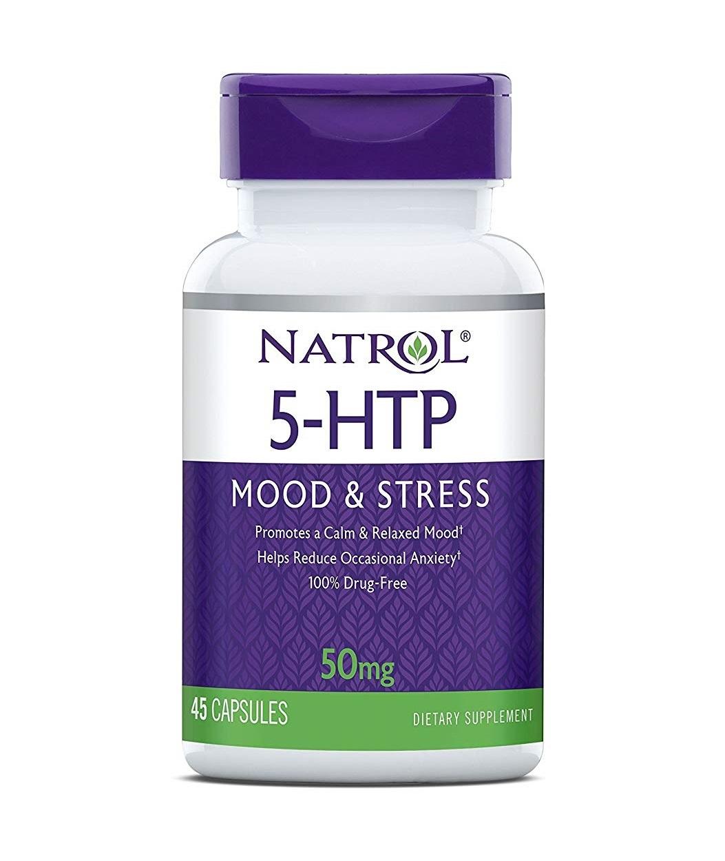 Купить NATROL Добавка биологически активная к пище Натрол 5-гидрокситриптофан / 5-HTP 50 мг 45 капсул