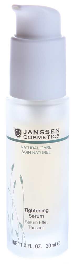 JANSSEN Концентрат-лифтинг активный мгновенного действия / Tightening Serum BIOCOSMETICS 30млКонцентраты<br>Легкая сыворотка для всех типов кожи. Заряжает кожу жизненной энергией и обеспечивает великолепный лифтинг-эффект. В состав сыворотки входят растительные экстракты с лифтинг-свойствами: экстракт люцерны укрепляет волокна коллагена и эластина, экстракт овса мгновенно разглаживает кожу, гиалуроновая кислота восполняет дефицит увлажнения. Вызванные сухостью морщинки разглаживаются, кожа становится упругой, контуры лица более четкими. Активные ингредиенты: экстракт овса*, экстракт люцерны*, гиалуроновая кислота с короткой и длинной цепью. * Выращено на экологически чистых плантациях. Способ применения: наносите Tightening Serum на чистую кожу лица утром и/или вечером. Дайте впитаться, а затем нанесите крем. В салоне применять согласно регламенту ухода.<br><br>Вид средства для лица: Легкий