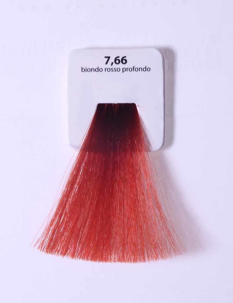 KAARAL 7.66 краска для волос / Sense COLOURS 100млКраски<br>7.66 глубокий красный блондин Перманентные красители. Классический перманентный краситель бизнес класса. Обладает высокой покрывающей способностью. Содержит алоэ вера, оказывающее мощное увлажняющее действие, кокосовое масло для дополнительной защиты волос и кожи головы от агрессивного воздействия химических агентов красителя и провитамин В5 для поддержания внутренней структуры волоса. При соблюдении правильной технологии окрашивания гарантировано 100% окрашивание седых волос. Палитра включает 93 классических оттенка. Способ применения: Приготовление: смешивается с окислителем OXI Plus 6, 10, 20, 30 или 40 Vol в пропорции 1:1 (60 г красителя + 60 г окислителя). Суперосветляющие оттенки смешиваются с окислителями OXI Plus 40 Vol в пропорции 1:2. Для тонирования волос краситель используется с окислителем OXI Plus 6Vol в различных пропорциях в зависимости от желаемого результата. Нанесение: провести тест на чувствительность. Для предотвращения окрашивания кожи при работе с темными оттенками перед нанесением красителя обработать краевую линию роста волос защитным кремом Вaco. ПЕРВИЧНОЕ ОКРАШИВАНИЕ Нанести краситель сначала по длине волос и на кончики, отступив 1-2 см от прикорневой части волос, затем нанести состав на прикорневую часть. ВТОРИЧНОЕ ОКРАШИВАНИЕ Нанести состав сначала на прикорневую часть волос. Затем для обновления цвета ранее окрашенных волос нанести безаммиачный краситель Easy Soft. Время выдержки: 35 минут. Корректоры Sense. Используются для коррекции цвета, усиления яркости оттенков, создания новых цветовых нюансов, а также для нейтрализации нежелательных оттенков по законам хроматического круга. Содержат аммиак и могут использоваться самостоятельно. Оттенки: T-AG - серебристо-серый, T-M - фиолетовый, T-B - синий, T-RO - красный, T-D - золотистый, 0.00 - нейтральный. Способ применения: для усиления или коррекции цвета волос от 2 до 6 уровней цвета корректоры добавляются в краситель по Правилу 