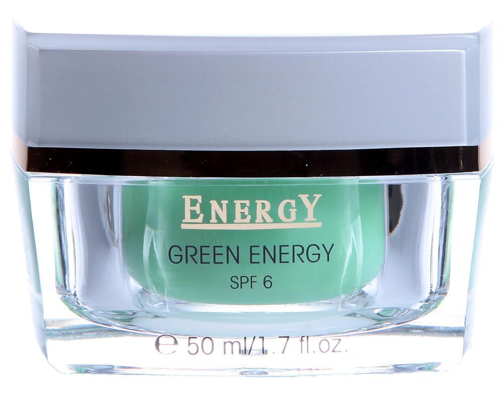ETRE BELLE Крем Зеленая энергия / Green Energy Cream 50млКремы<br>Увлажняющий легкий крем с экстрактом папай, пассифлоры , ананаса, киви, лимона и винограда. Это настоящий фруктовый коктейль, содержащий высококачественные масла и растительные экстракты. Растительные активные вещества стимулируют регенерацию клеток, защищают кожу от негативного внешнего воздействия, оказывают уравновешивающее действие на поврежденную солнечными лучами кожу. Природный увлажняющий комплекс способствует достаточному сохранению влаги в коже. Кожа становится свежей и ровной. SPF 6 &amp;ndash; 6-я степень защиты от ультрафиолетовых лучей Показание: Идеально для жирной и комбинированной кожи Активные вещества: Фруктовые экстракты (папайя, пассифлора, ананас, киви, лимон, виноград), мочевина, витамин Е, масло жожоба, серин, аллантоин, NMF &amp;ndash; природный фактор увлажнения Способ применения: Крем необходимо наносить на предварительно очищенную кожу утром и вечером.<br>