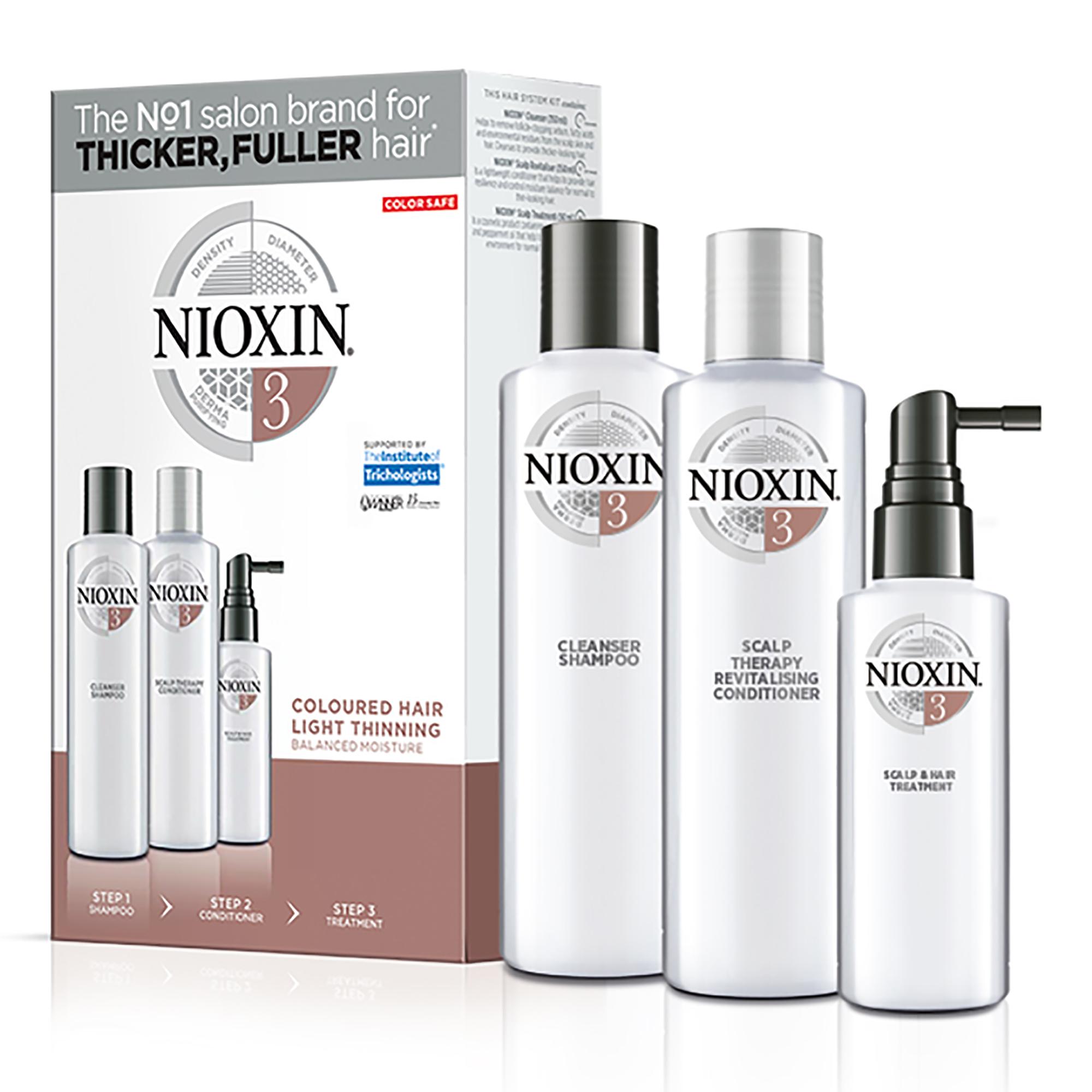 NIOXIN Набор для ухода за химически обработанными волосами, с намечающейся тенденцией к выпадению Система 3