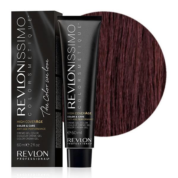 REVLON PROFESSIONAL 4-25 краска для волос, шоколадно-ореховый блондин / RP REVLONISSIMO COLORSMETIQUE High Coverage 60 мл фото