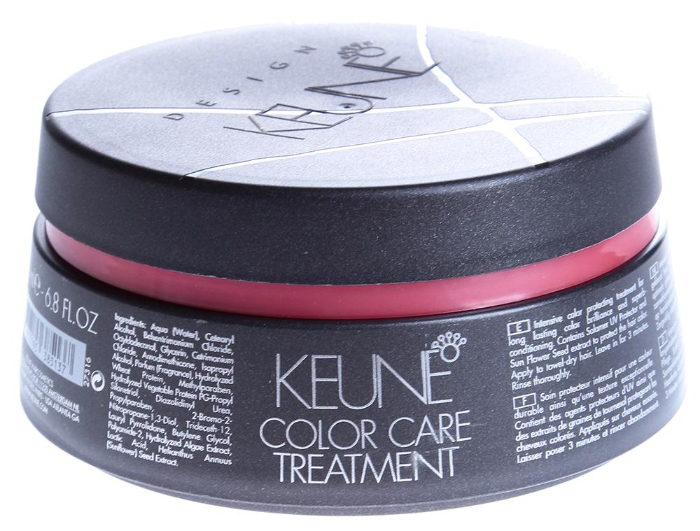 KEUNE Маска Стойкий цвет / COLOR CARE TREATMENT 200млМаски<br>Keune Design Care Color Care Treatment Маска &amp;laquo;Стойкий цвет&amp;raquo; &amp;ndash; эксклюзивная новинка из Нидерландов, предназначенная для поддержания яркости, насыщенности и красоты окрашенных волос. С ее помощью Вы сможете выглядеть великолепно без посещения дорогих салонов. Маска способствует выравниванию оттенка волос и обеспечивает им шелковистость и блеск.  Применение: Препарат следует наносить на вымытые волосы и держать до 5 минут. После использования смыть водой. Избегайте попадания в глаза.<br><br>Объем: 200<br>Вид средства для волос: Стойкая<br>Типы волос: Окрашенные