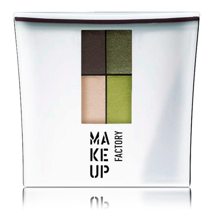 MAKE UP FACTORY Тени 4-х цветные для глаз, 19 темный коричневый - темная олива - свежая зелень - светлый беж / Eye Colors 4,8 г misslyn 4 х цветные тени для век eye mazing 42 4 х 0 8 г
