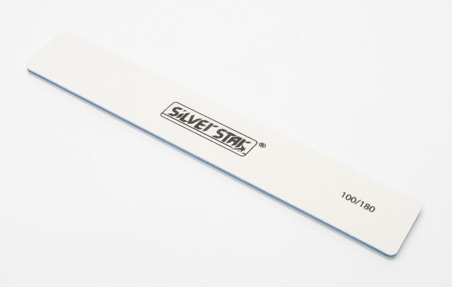 SILVER STAR Пилка 28*178, белая 100/180 / PRO zinger пилка полуовал черная 100 180