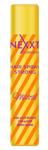 NEXXT professional Лак сильной фиксации для волос / HAIR SPRAY STRONG Mistral 400 мл спрей nexxt professional energy vital protection spray 250 мл